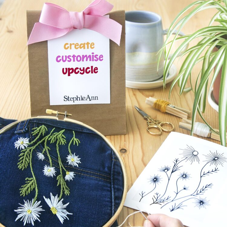 StephieAnn Upcycle embroidery kit