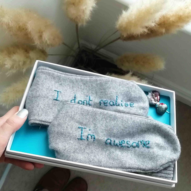 Cashmere custom socks