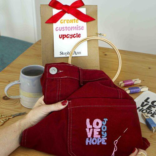 Love Hope Kit Embroidery Kit
