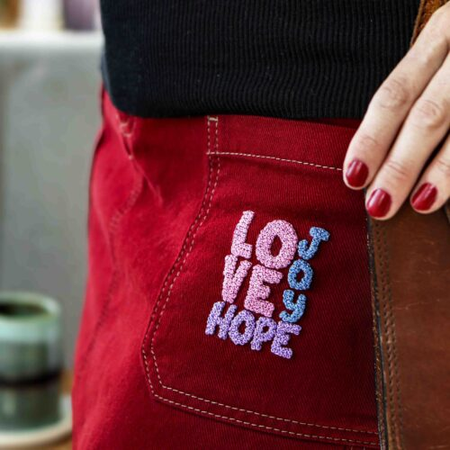 StephieAnn Trace and Template Love Hope Kit Embroidery Kit