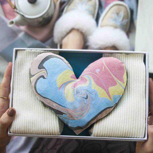 wheatbag Heart and bed Socks