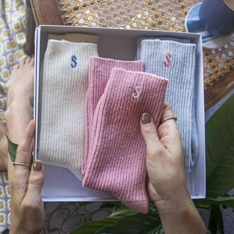 Personalised bed Sock Set