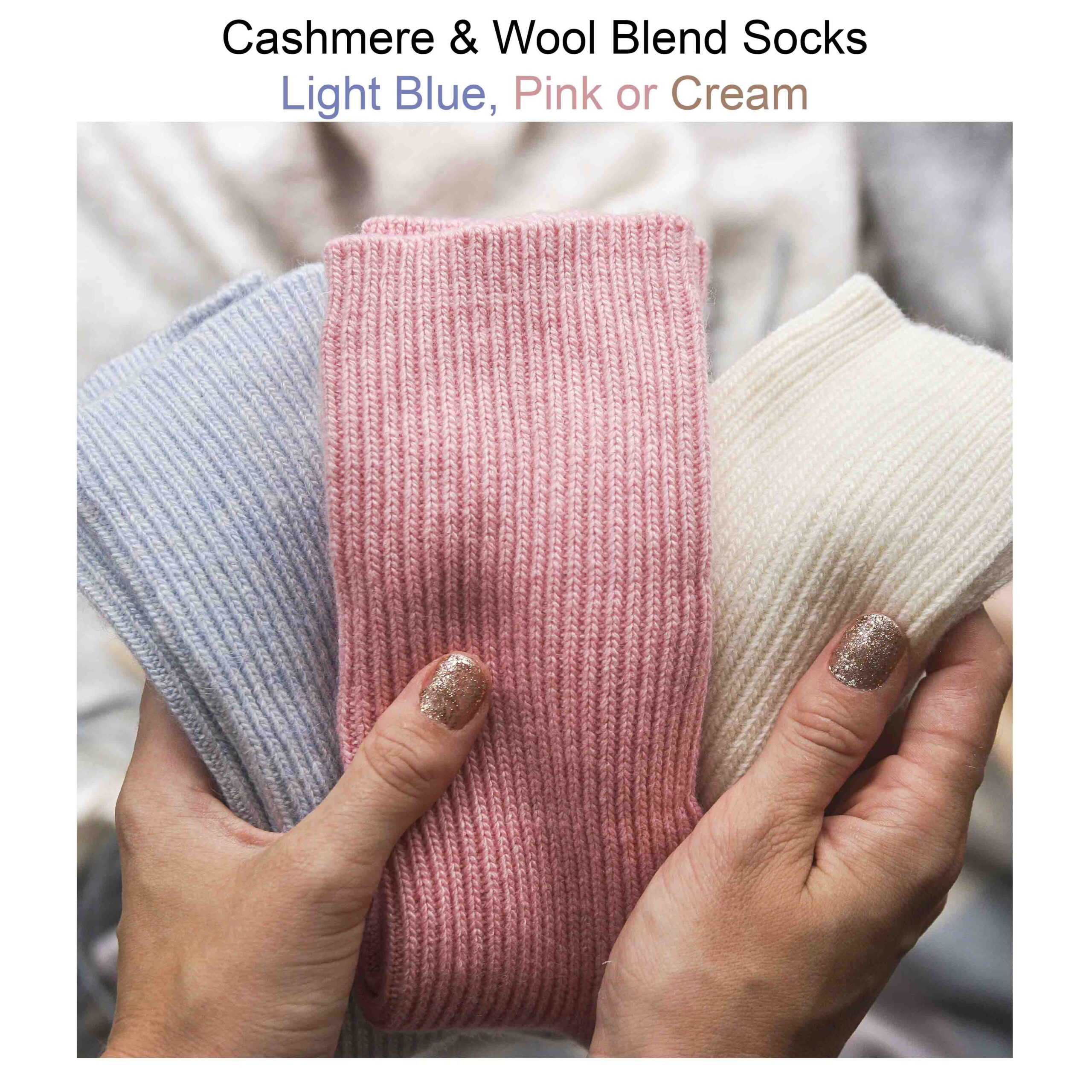 Personalised cashmere socks